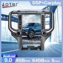 AOTSR para Dodge RAM 2018-2020 Android 9,0 estilo Tesla de pantalla Vertical PX6 GPS para coche reproductor de navegador Multimedia radio CARPLAY(China)