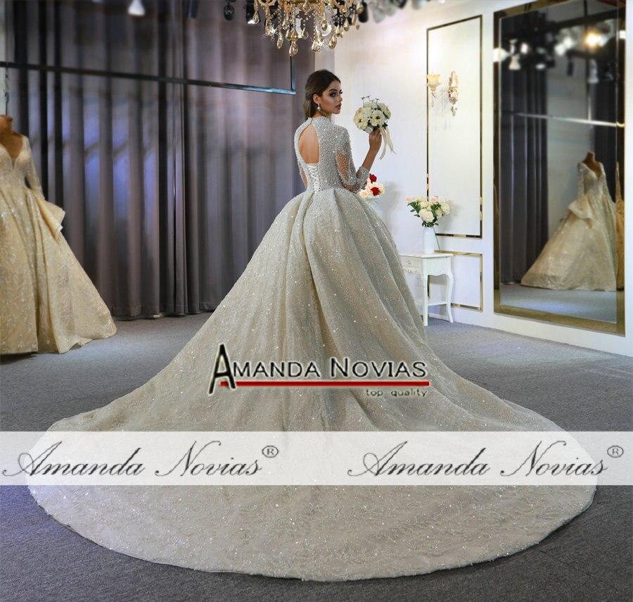 Image 2 - 2020 weeding dress amanda novias full pearls luxury lebanese wedding dressesWedding Dresses   -