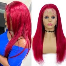 Lace Bob Human-Hair EUPHORIA Burg Wigs Blonde Brown Straight Brazilian 33 99J 4X4 Remy