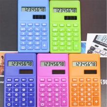 Mini Calculator 8 Digits Display Dual Power Supply Cartoon Candy Calculadora Solar Hesap Calculatrice Solaire