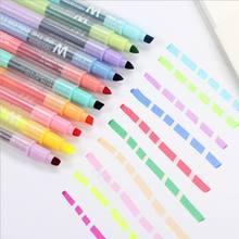 10 pièces/ensemble surligneur effaçable Double extrémité marqueurs Pastel marqueur de craie liquide surligneurs de couleur fluorescente