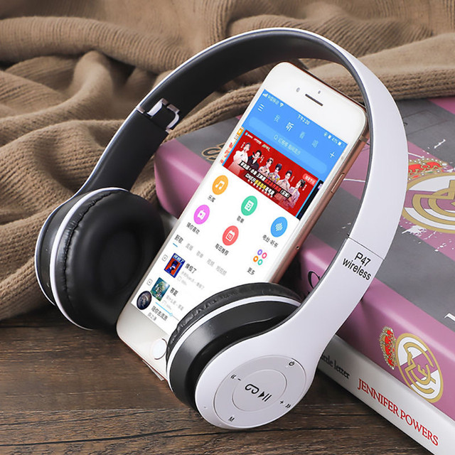 Wireless Headset Foldable Stereo Bass Bluetooth Headphones Kid Girl Helmet Gift,with Mic USB Bluetooth 5.0 Adaptor For TV Gaming 3