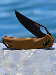 SANRENMU Outdoor Camping Folding-Knives Blade-Axis-System Tactical-Knife Survival-Edc-Tool