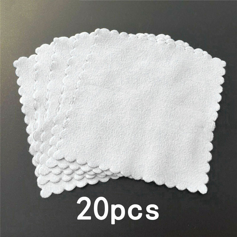 20pcs Square Nano Ceramic Car Glass Coating Lint-Free Cloth Microfiber Cleaning Cloths Smooth Soft