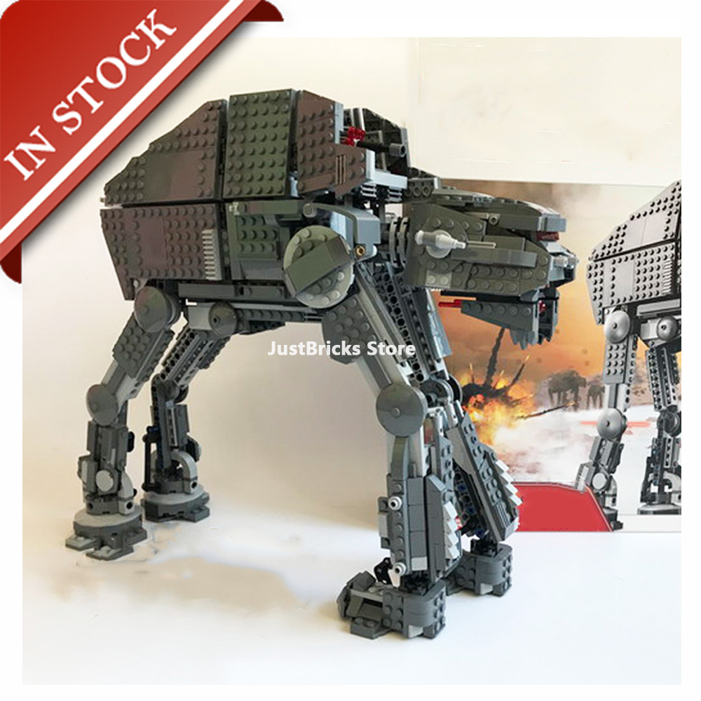 Star Series Wars First Order Heavy Assault Walker 10908 05130 In Stock Building Block Bricks Toys Gifts Moive 75189