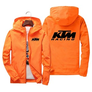 KTM Spring Autumn Jacket Men Thin Windbreaker jaqueta masculina Slim Fit Young Men Hooded bomber jacket men