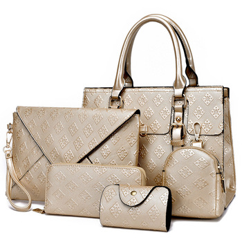 5 in 1 Fashion Elegant Women's Bag Set Female PU Leather Composite Bag Women Handbags Shoulder Bags Sac a main Bolsa Femina 2018