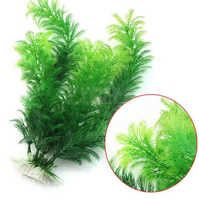 Artificial Aquarium Plant Decoration Fish Tank Submersible Flower Grass Decor Ornament For fish tank Decor Pet Supplies 2