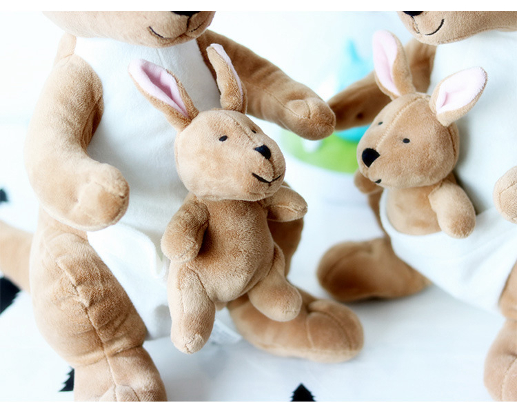 30cm Cute Creative Mother And Child Kangaroo Doll Plush Toy Soft Plush Doll Baby Toys Children Birthday New Year Gift