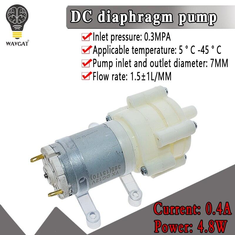 WAVGAT DC6-12V R385 Aquarium Fish Tank Round Water Air DC Diaphragm Pump Aquarium Air Pumps Accessories