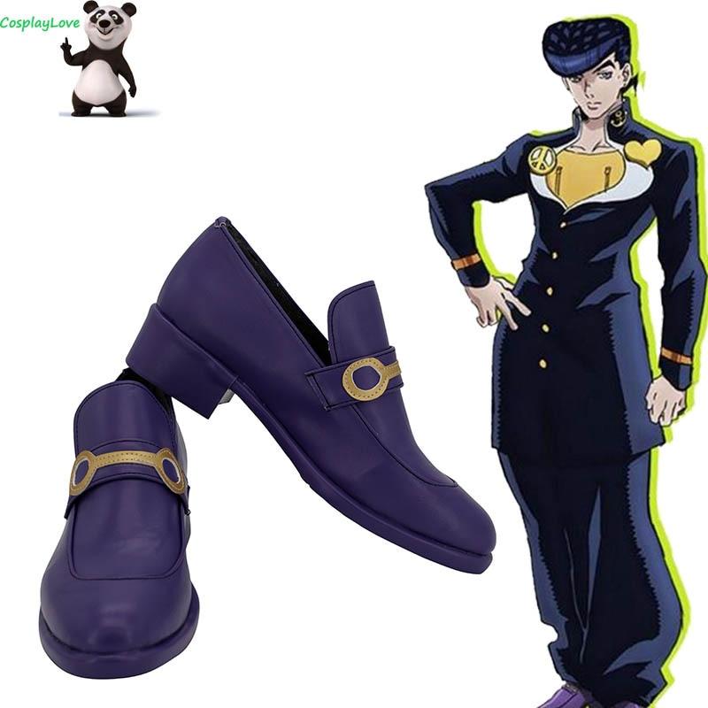 JoJo's Bizarre Adventure: Diamond Is Unbreakable Josuke Higashikata Purple Cosplay Shoes Long Boots Custom Made CosplayLove