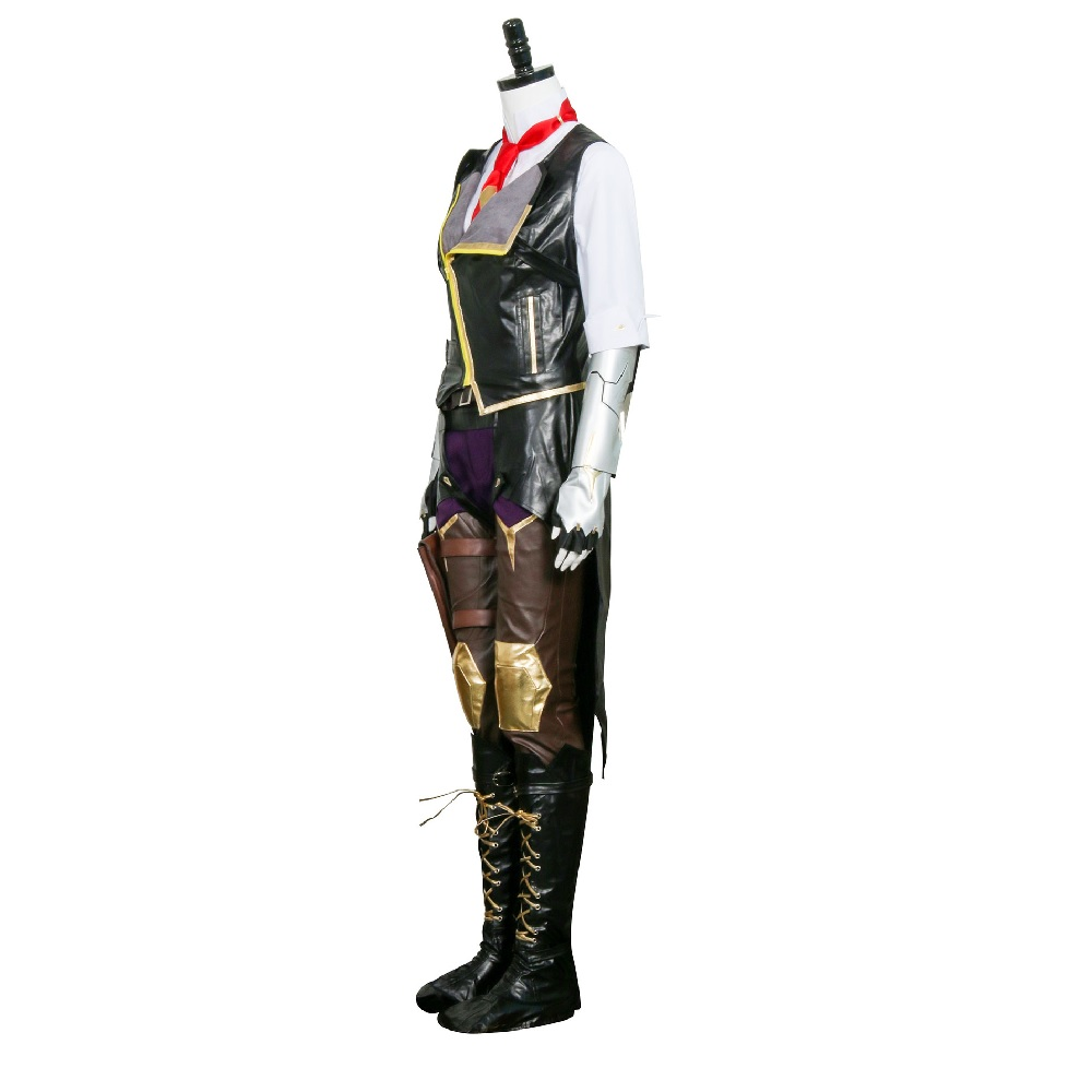 Hero Ashe Cosplay Costumes for Adult Women for Game Overwatch OW Elizabeth Caledonia Ashe Full Suit Halloween Cosplay Set 3