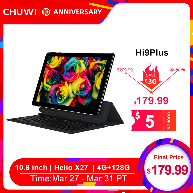 CHUWI Original Hi9 Plus 10,8 pulgadas Tablet PC MediaTek Helio X27 Deca Core Android 8,0 4GB de RAM 128GB ROM 2K pantalla doble 4G Tablet title=