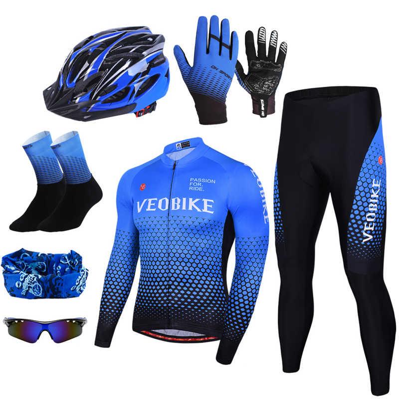 Team Pro odzież rowerowa męska koszulka na rower zestaw odzież rowerowa Mountaine odblaskowy anty-uv długi kombinezon do jazdy Mtb sprzęt rowerowy