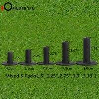 """5 Teile/satz Durable Schwarz Gummi Golf Tees 1.5 """"2.25"""" 2.75 """"3"""" 3.13 """"Mixed Höhe Ball halter forDriving Reicht Matten Praxis auf"""