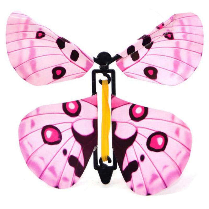 iWish 11x11cm Magic Flying Toys Transformation Fly Butterfly Props Tricks Change Hand Funny Prank Joke Mystical Fun Kids Classic(China)