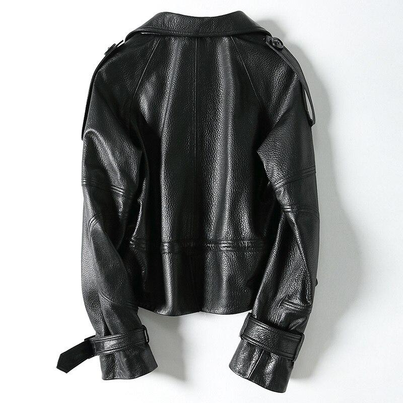100% Real Sheepskin Coat Female Motorcycle Leather Short Genuine Leather Jacket Women Korean Spring Clothes 2020 LWL1481