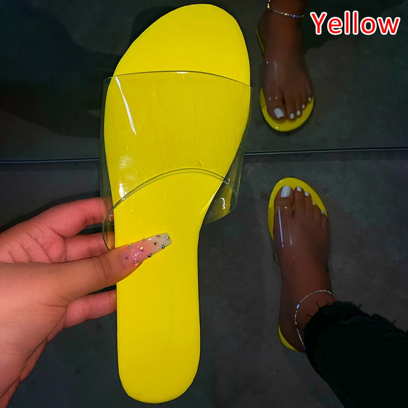 H02db21eed4084ffa8d745d6a0459b932e - Fashion Women Slippers Slides Clear Transparent Jelly Shoes Outdoors Female Sexy Summer Beach Shoes 2020 Female Footwear