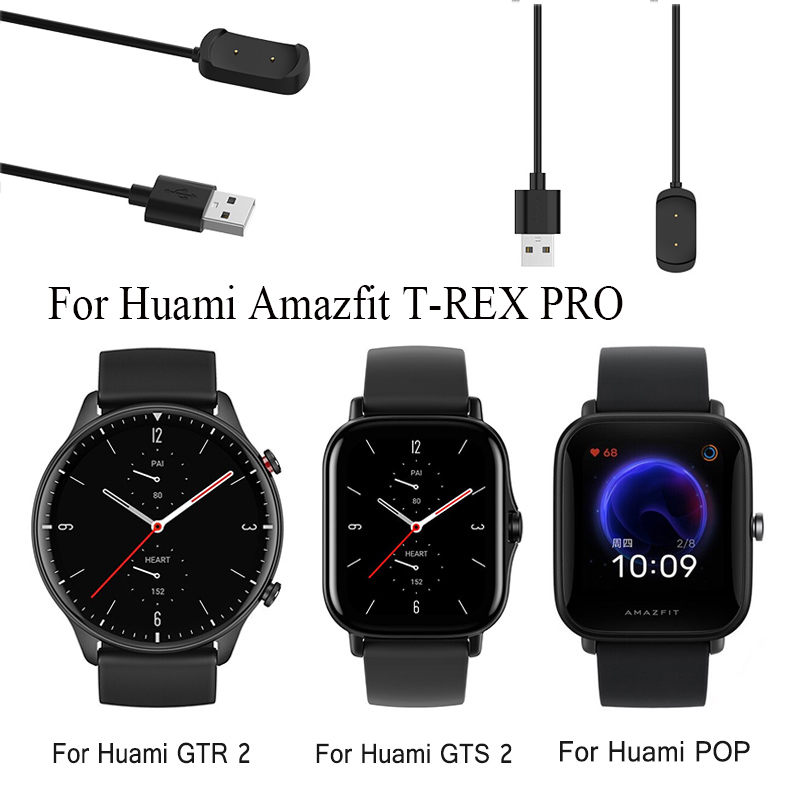 1M USB Magnetic Cable Charging Data Charger For Huami Amazfit T-REX PRO GTR2 GTS2 Pop GTR 2e GTS 2 mini Smart Watch Dock Adapter