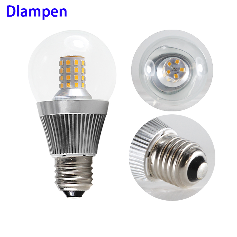 <font><b>bombilla</b></font> <font><b>led</b></font> e14 E27 B22 corn bulb glass Dc 10v to 60v low voltage 2835 8W 12 <font><b>24</b></font> 36 48 60 <font><b>v</b></font> volt A60 glass bubble ball spotlight image