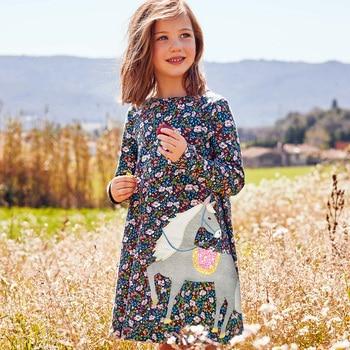 Girl Dress Long Sleeve Kids Dresses for Girls Cotton Clothes Autumn Winter Princess Party Tutu Dress Baby Unicorn Clothing 1