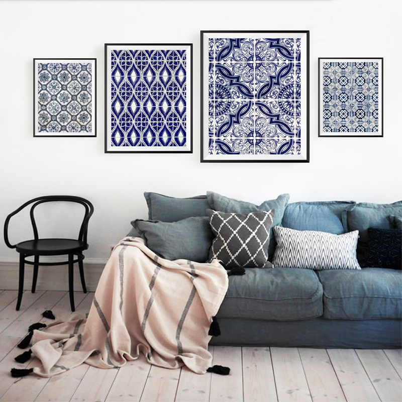 Moroccan Wall Art Set Canvas Painting Home Decor