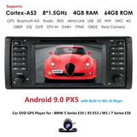 7''DSP Android 9.0 4GB ROM 64GB ROM Car Stereo Radio DVD Player GPS Navigation for BMW E39 1995 2003 E38 1994 2001 5 7 Series M5