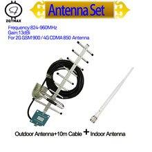 ZQTMAX Antena yagi de 13dbi 9 unidad y omni antena para cdma amplificador de señal gsm 2g 4g amplificador de señal 850 900 repetidor