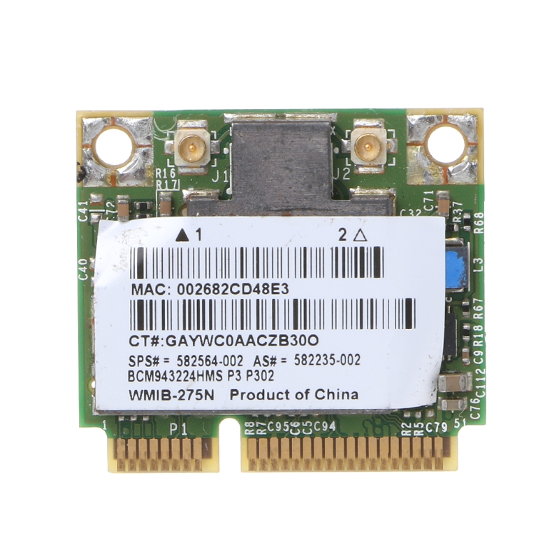 Para hp bcm943224hms banda dupla sem fio 802.11 a/g/n meia mini cartão de wifi pci-e