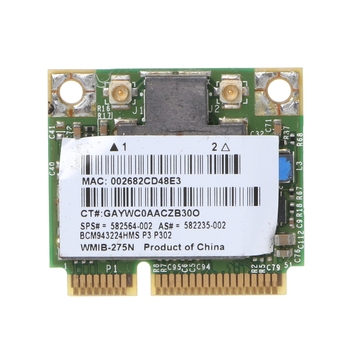Для HP BCM943224HMS Беспроводной двухдиапазонный 802,11 a/g/n Половина мини PCI-E WiFi карта