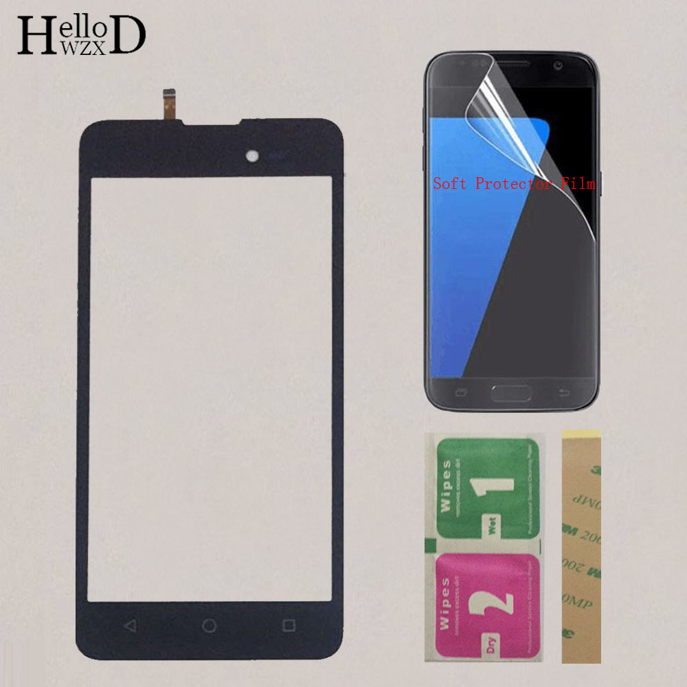 Touch Screen Front Glass For Wiko Sunny 2 Plus Touch Panel Screen Digitizer Sensor 5.0'' Mobile Replacement + Protector Film