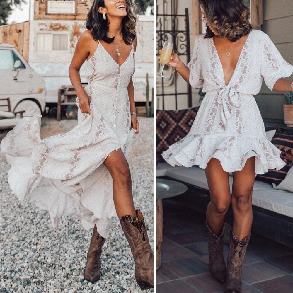 Donne del Vestito Da estate Abiti Casual Tie Dye Abbigliamento Robe Femme Chic Abiti Da Spiaggia Chiffon di Autunno Maxi Vestito 2020 Vestito Da Donna
