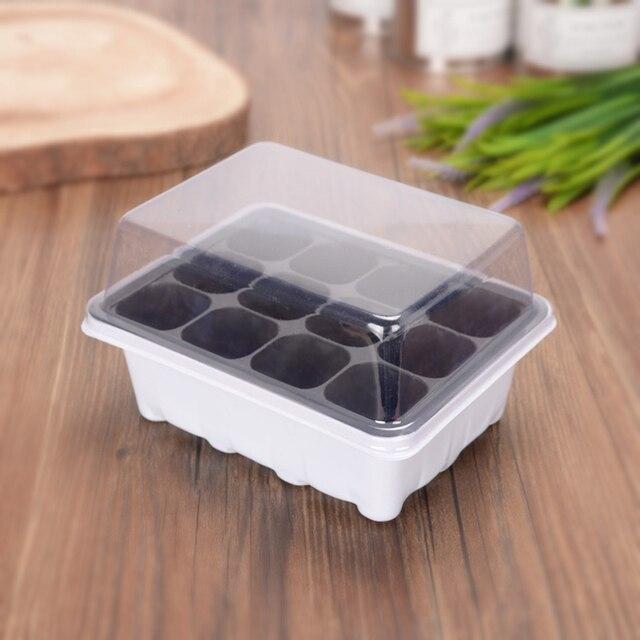 3 Pcs/Set 12 Cells Seedling Trays Seed Starter Box Plant Flower Grow Starting Germination Pot Garden Grow Box Gardening Supplies