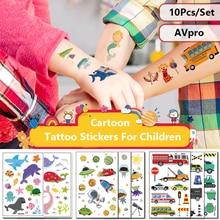 Cartoon Tattoo Temporary-Tattoo-Sticker Children Animal Butterfly Waterproof for Kid