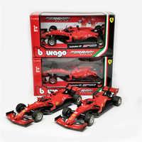 BBurago 1:43 F1 2019 SF90 #5 Sebastian Vettel #16 Charles Leclerc Normalen Version Formula one Racing Diecast Auto