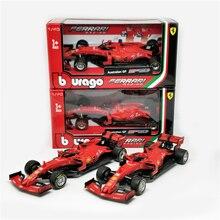 BBurago 1:43 F1 2019 SF90 #5 Sebastian Vettel #16 Charles Leclerc normalna wersja formuła jeden wyścigi Diecast samochód