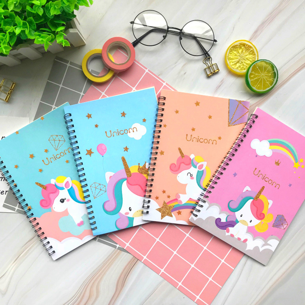 1 Pcs Kawaii Unicorn Metal Button Notebook Creative Simplicity Note Pad  Loose Leaf Memo Pad Notebook Portable Diarystationery
