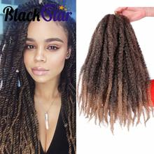 18inch Crochet Marly Braids Hair Soft Afro twist synthetic Braiding Hair Extensions High Temperature Fiber for woman