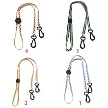 5Pcs Adjustable Face Mask Anti-Lost Lanyard Multicolor Braided Weave Rest Ear Handy Chain Holder Mouth Cover Strap Rope
