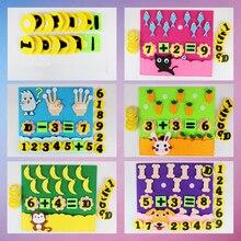 1 шт. детские игрушки DIY детский сад нетканые Обучающие образовательные игрушки Монтессори вспомогательный материал для обучения математике головоломки игрушки