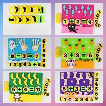 1Pcs Children Toys DIY Kindergarten Non-woven Educational Toys Education Montessori Teaching Aids Math Puzzle Toys montessori teaching aids touchpad board children early education sensory teaching wooden toys educational toys
