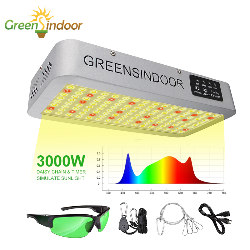 3500K LED Grow Light Panel 3000W Phyto Lamp For Plants Indoor Full Spectrum Cultivation Medical Plant Growth Lamp Seed Fitolamp