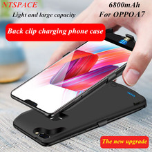 Extenal Battery Charger Cover For OPPO A7 Portable Backup Power bank Charging Case 6800mAh Power bank Battery Charger Case
