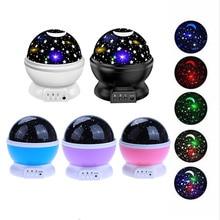 Sterne Starry Sky LED Nacht Licht Rotierenden Projektor Mond Lampe Batterie USB Kinder Geschenke Kinder Schlafzimmer Lampe Projektion Licht