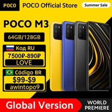 [Welt Premiere Auf Lager] Globale Version POCO M3 Smartphone Snapdragon 662 Octa Core 4GB 64GB 128GB 6 53 #8222 display 6000mAh batterie cheap Nicht abnehmbar CN (Herkunft) Android Seite-montiert 48Mp Quick Charge 3 0 english Russisch Deutsch French Spanish POLISH