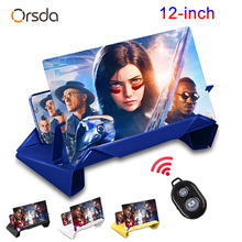Orsda 3D Screen Amplifier Mobile Phone Screen Video Magnifier For Cell Phone Smartphone Enlarged Screen Phone Stand Bracket
