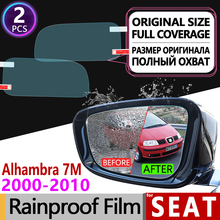 For Seat Alhambra 7M 2000 - 2010 Full Cover Anti Fog Film Rearview Mirror Rainproof Anti-Fog Films Clean Accessories 2005 2008 air cooler arctic air personal space cooler mini fan water cooling space air conditioner fan device home office desk