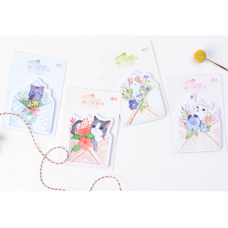 24packs/lot Cute And Creative Sticky Notes For Bookmark Gift Stationery Student Message Notes Wholesale Memo Pad