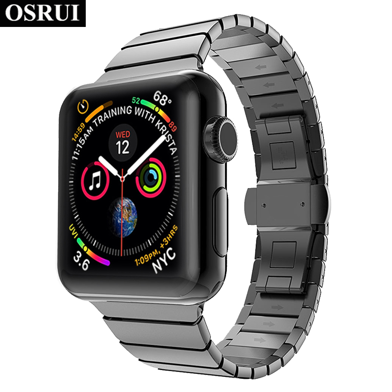 Stainless steel strap for correa Apple watch 4 band 44mm 40mm iwatch 3 wrist Link bracelet for aple watch bands 42mm 38mm belt   Watchbands