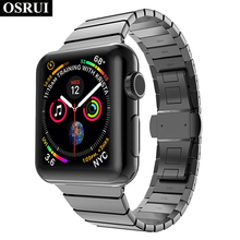 Stainless steel strap for correa Apple watch 4 band 44mm 40mm iwatch 3 wrist Link bracelet for aple watch bands 42mm 38mm belt osrui stainless steel for correa apple watch strap 4 44mm 40mm iwatch 3 wrist link bracelet for apple watch band 42mm 38mm belt